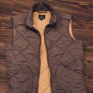 J. Crew gray quilted vest